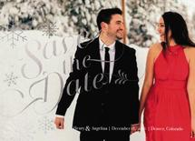 Snowflake Save the date by Anna Hirsch