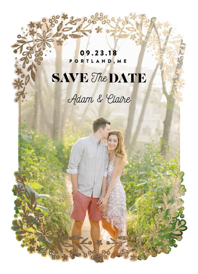 save the date cards - Forest Blossoms by kukkiilabs