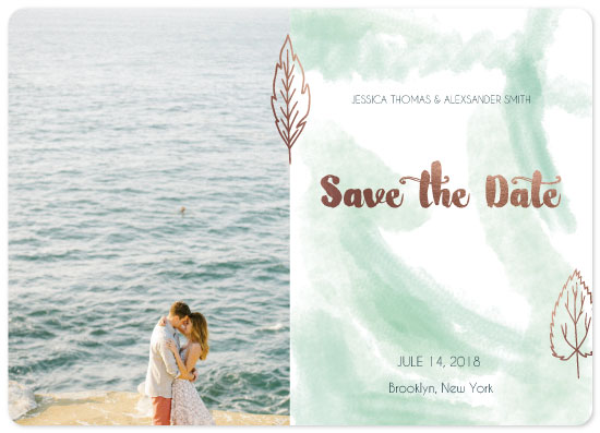 save the date cards - golden leaves by Katerina