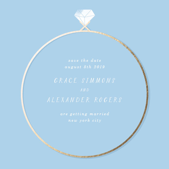 save the date cards - Nice Ring by Baumbirdy
