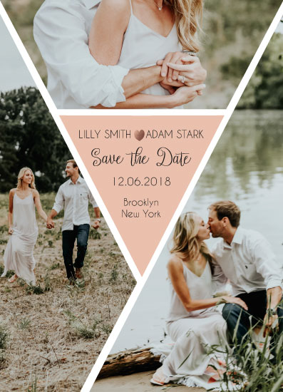 save the date cards - kaleidoscope by Katerina