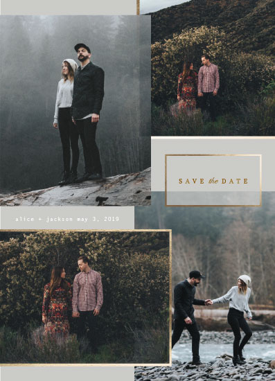 save the date cards - Stacked Portraits by Baumbirdy