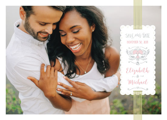 save the date cards - All Wrapped Up by Gigi and Mae Studios