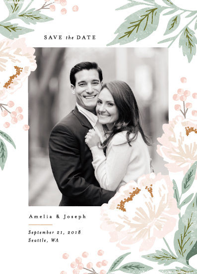 save the date cards - Peony Florals by Alethea and Ruth