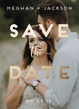 Save the Date Golden Message
