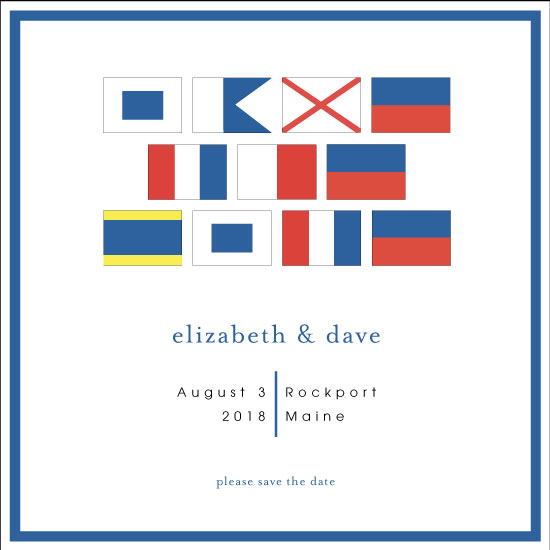 save the date cards - Nautical Flags by Chantal Byrne