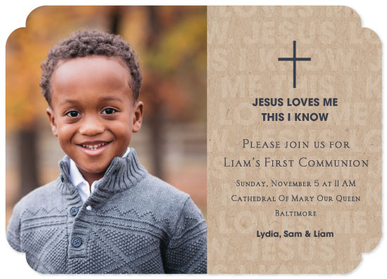 invitations - Jesus Loves Me by Chantal Byrne