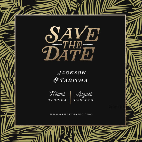 save the date cards - Greenery Engagement by Fox and Hound