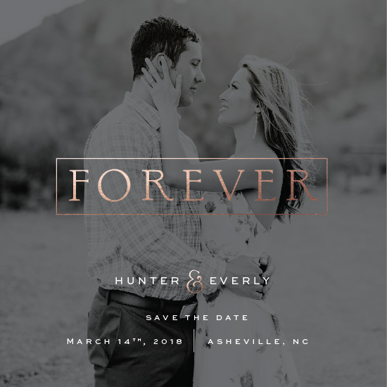 save the date cards - They Said Forever by Fox and Hound