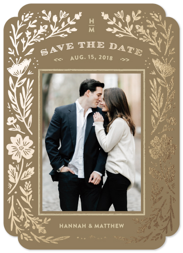 save the date cards - Floral Romance by Griffinbell Paper Co.