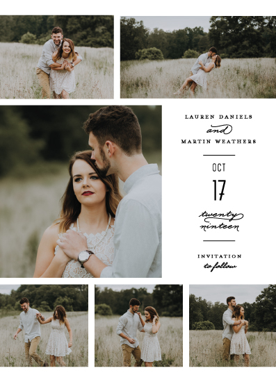 save the date cards - Elegant Simple Script by Shiny Penny Studio