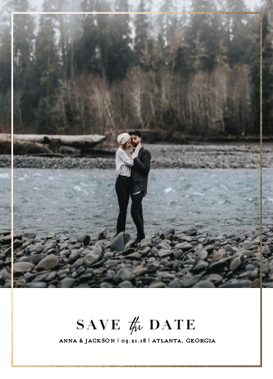 save the date cards - Gilded by Becca Thongkham