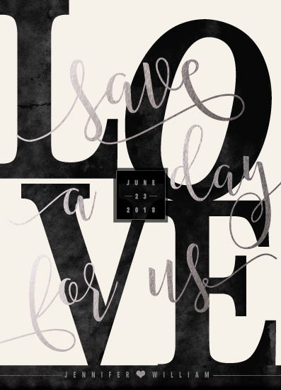 save the date cards - love the date by Suzanne Green