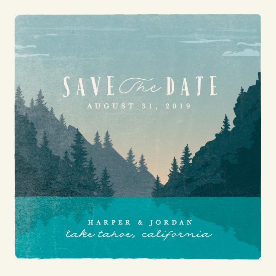 save the date cards - vintage poster by Karidy Walker