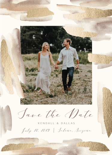 save the date cards - Golden Elegance by Eclosque