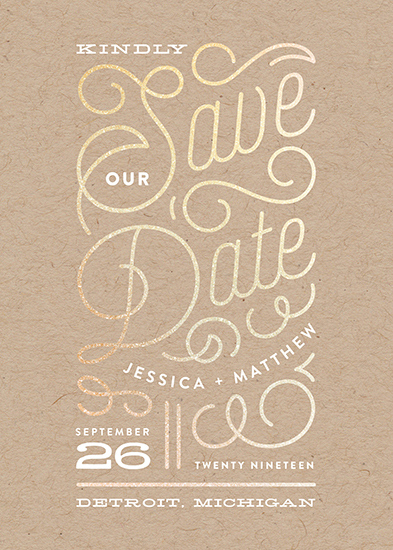 save the date cards - Billowy by Genna Cowsert