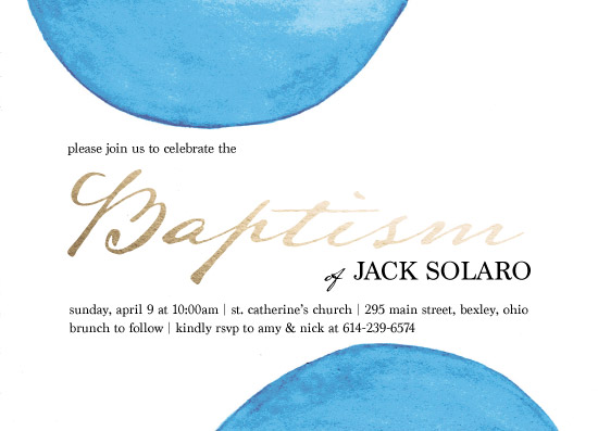 invitations - Blue Baptism by Amy Solaro