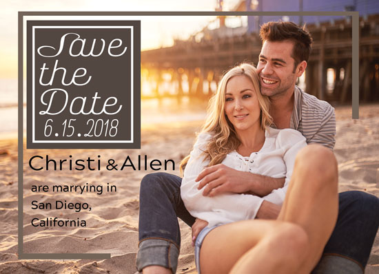 save the date cards - Beachy Couple in Love by Kristen Niedzielski