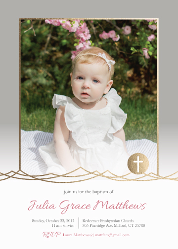 invitations - Photo Baptism Announcement by Amanda Ansel