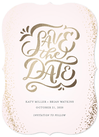 save the date cards - Sparkle & Shine by Laura Bolter Design