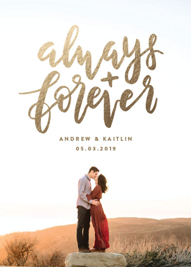 save the date cards - Always and Forever by Amy Payne