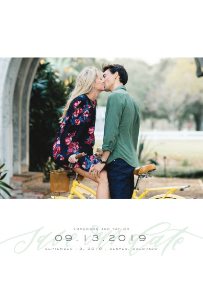 save the date cards - Modern Script Overlay by Grace Kreinbrink