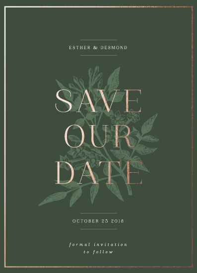 save the date cards - Understated Elegance by Nazia Hyder
