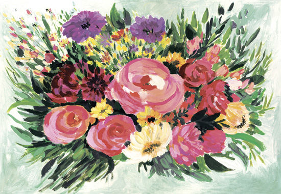 art prints - Floral brushstrokes by Albina Bratcheva