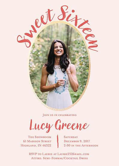 invitations - Sweet Sixteen Princess by Carlota Suaco