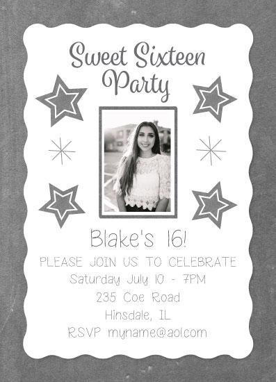 invitations - Chalkboard Sweet 16 by Tracy Ryan