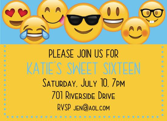 invitations - Emoji Birthday by Tracy Ryan