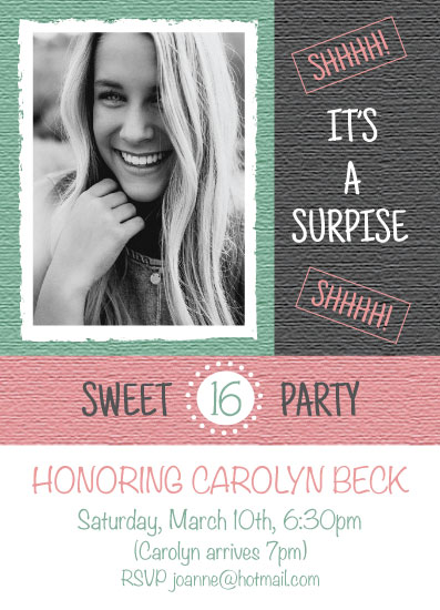 invitations - Pretty In Pink Sweet Sixteen by Tracy Ryan