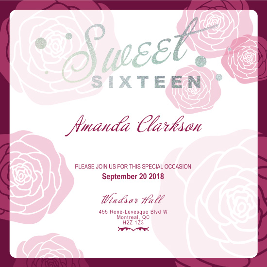 invitations - Sweet Roses by Arianne Colella