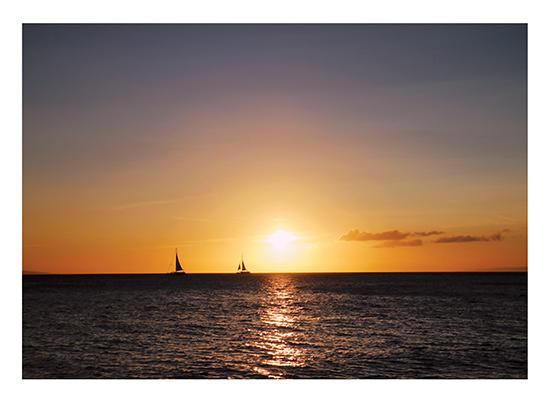 art prints - Sunset Sailing by Kathy Par