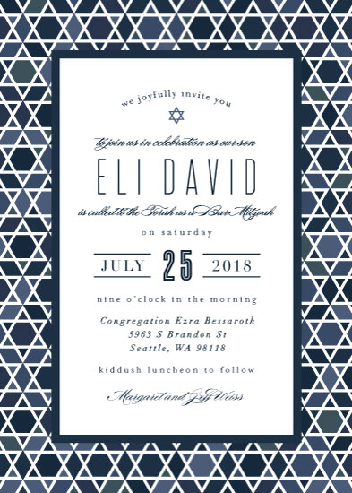 invitations - Starred Frame by Amy Payne