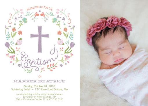 invitations - Graceful Floral Wreath by Jill