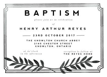 framed baptism notice