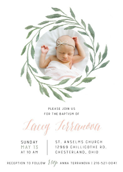 invitations - Olive Branch Blessing by Nikki Castiglione