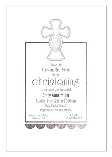 invitations - Christening Classic by Cindy Taylor