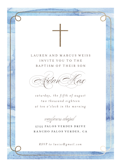 invitations - Watercolor Frame by Shirley Lin Schneider