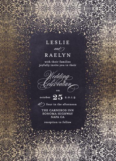 wedding invitations - Diamond Shimmer by Phrosne Ras