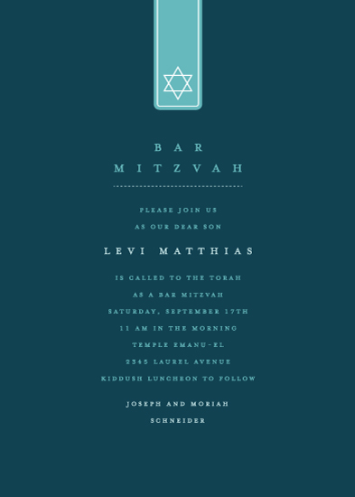 invitations - star of David label by Guess What Design Studio