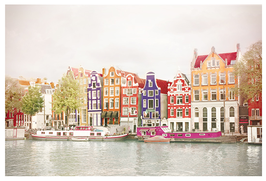 art prints - The dancing houses of Amsterdam by Mareike von Engelbrechten