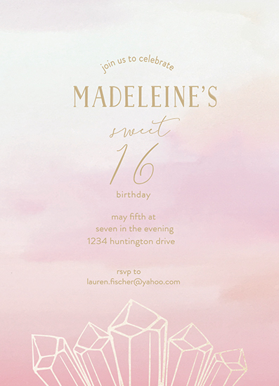invitations - Bejeweled Sixteen by Hallie Fischer