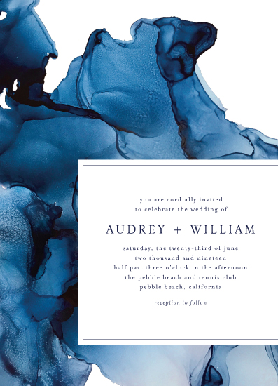 wedding invitations - blue tides by Erin Deegan