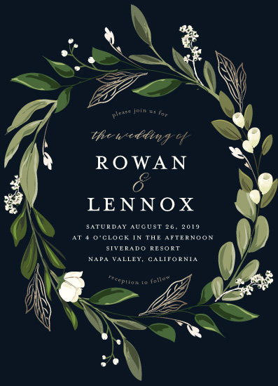 wedding invitations - Greenery Crown by Susan Moyal