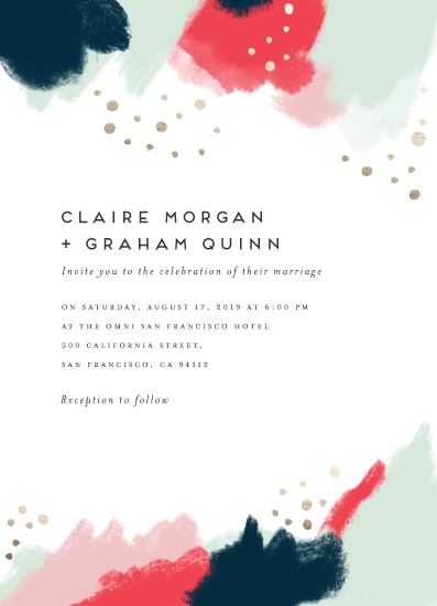wedding invitations - Bold Painterly Splash by Maria Hilas Louie