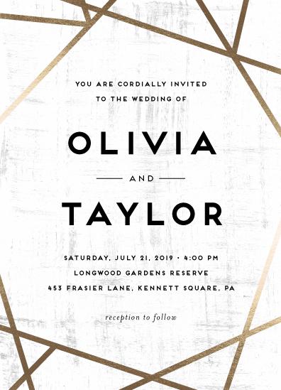 wedding invitations - Gilded Concrete by Poi Velasco