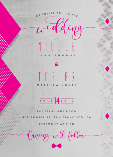 wedding invitations - Stylish Pop by Suzanne Green