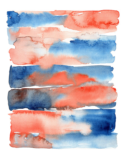 art prints - Watercolor Abstract Fall Sunset by HippieHoppy